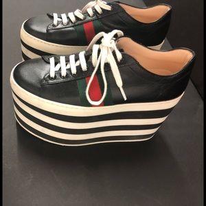 58061f4c86da Gucci Shoes - Authentic Gucci Peggy Platform sneakers 452312